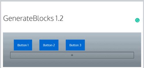 Editing a GenerateBlocks block in tablet view