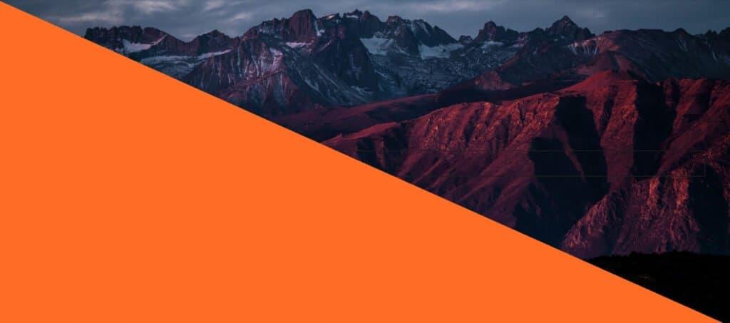 A orange gradient overlay in GenerateBlocks