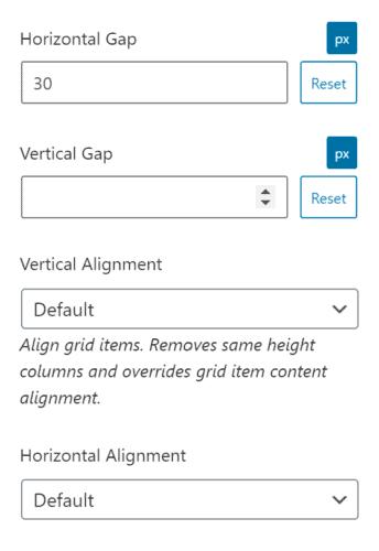 The alignment of a Generateblocks grid block in GeneratePress