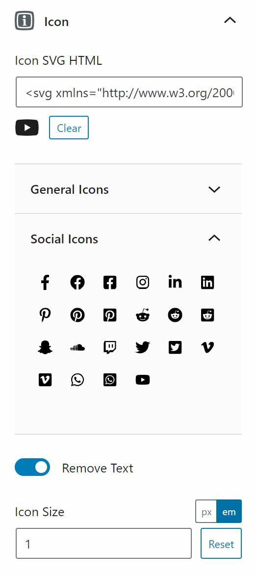 The icon of a Generateblocks buttons block