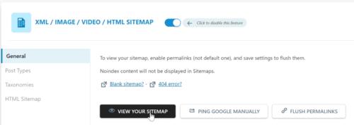 The WordPress sitemap in SEOPress