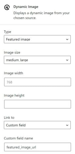 The Dynamic Image options in GeneratePress