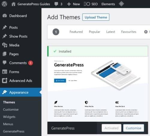 GeneratePress on WordPress.org